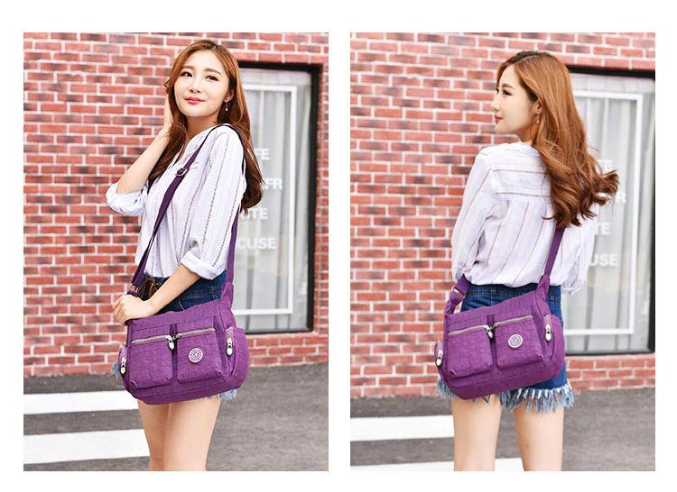 Women Top-handle Shoulder Bag Designer Handbag Famous Brand Nylon Female Casual Shopping Tote