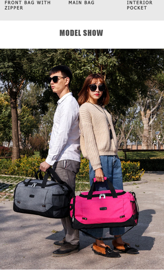 Scione Men Travel Bag Large Capacity Hand Luggage Travel Duffle Bags Nylon Weekend Bags Women Multifunctional Travel Bags