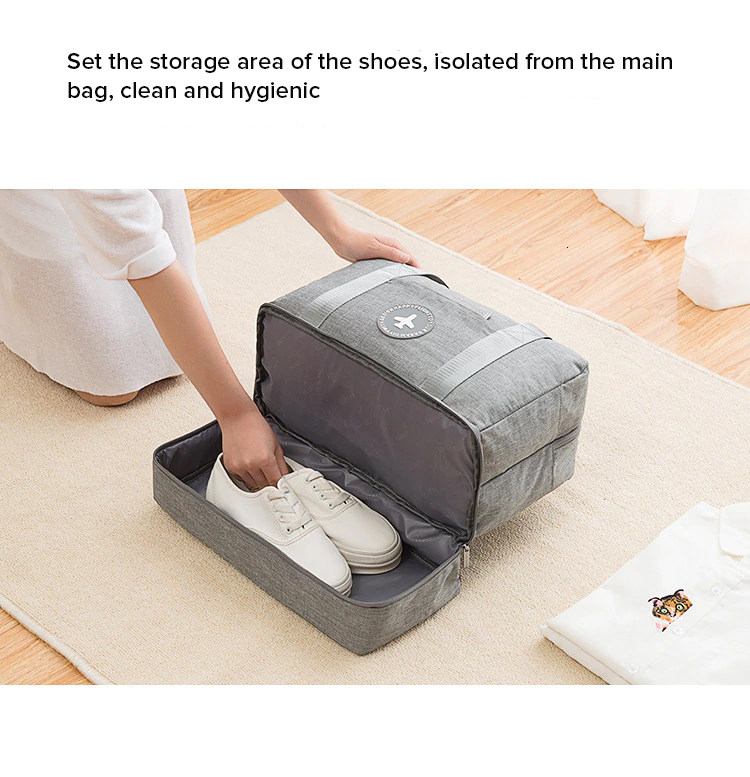 JULY'S SONG Travel Bag Waterproof Large Capacity Multifunctional Dry Wet Separation Storage Handbag Bag Travel Duffle Bag
